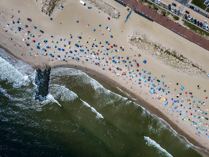 An Aerial View Of Ocean Grove Beach 8/25/21