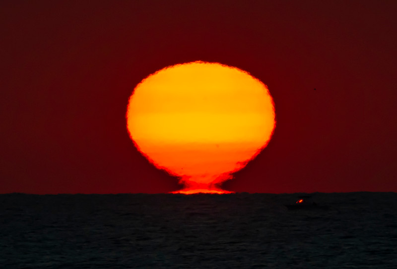 The Sun Tearing Away From The Horizon 11/21/20