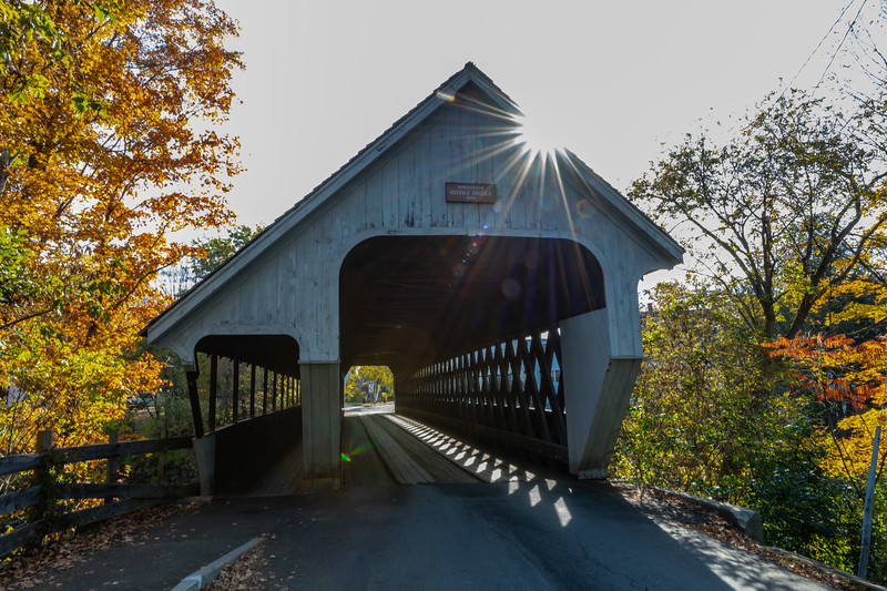 An Autumn Scene Around A Covered Bridge In Woodstock, VT 10/10/19