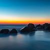 Predawn Colors Over Misty Rocks On Sandy Hook Beach 2/9/20