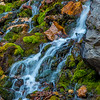 A colorful mossy waterfall in the Mineral Basin area of the Wasatch.