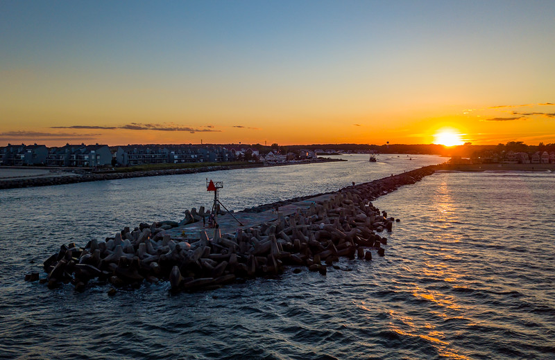Sunset Over The Manasquan Inlet 6/23/21