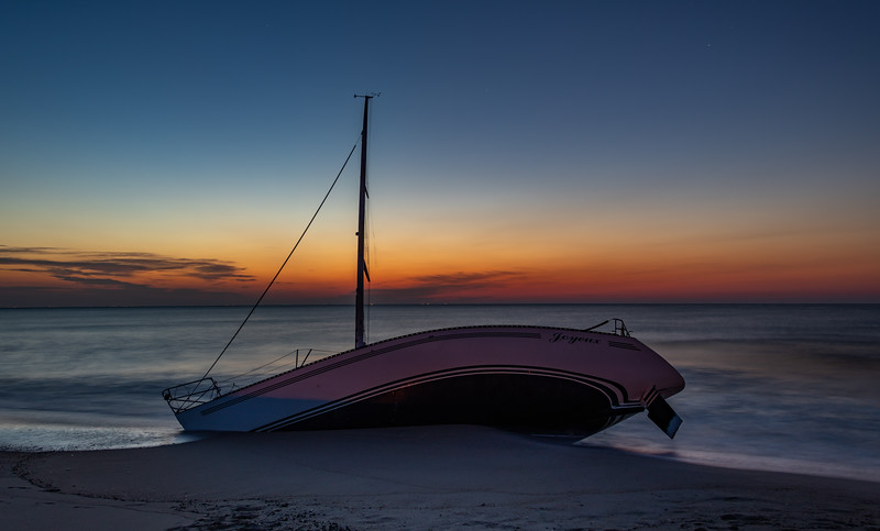 Predawn Colors Over Abandon Sailboat 7/14/19