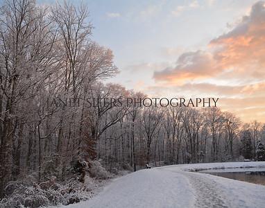 Frosty Sunrise by the Pond