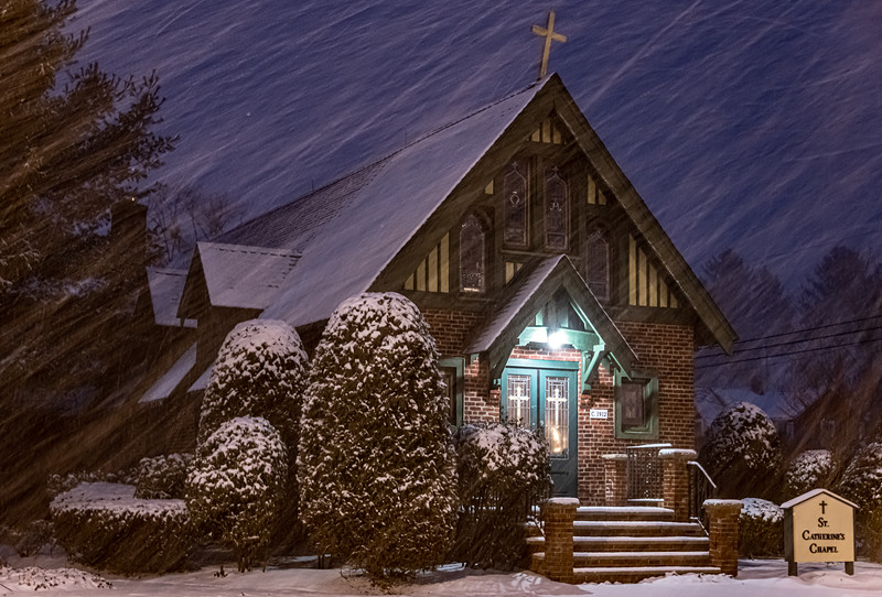 A Snowy Scene at St. Catherine's Chapel 1/31/21