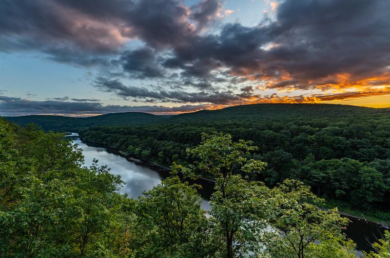 Sunset Over Delaware River At Hawk's Nest, Port Jervis, NY 9/11/20