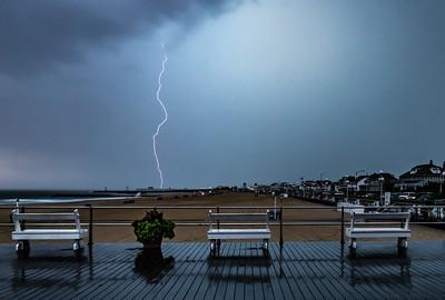 Lightning Over Avon-by-the-Sea Boardwalk and Belmar Pier 8/19/19