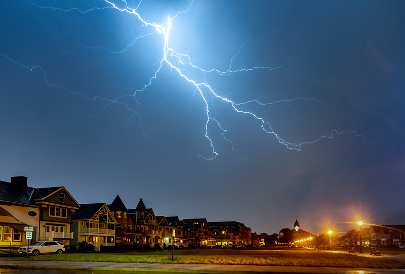 Lightning Over The Great Auditorium In Ocean Grove 6/3/20