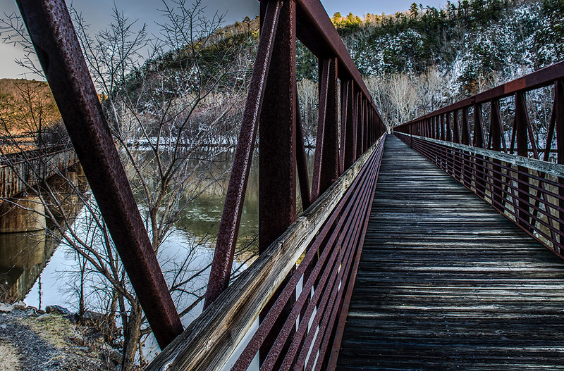 James River Foot Bridge on the Appalachian Trail Virginia