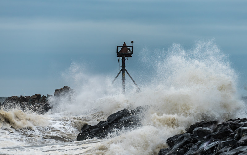 Rough Seas From Hurricane Jose at Manasquan Inlet 9/20/17