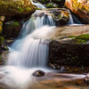Water cascade in the Smoky Mountains