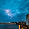 Lightning Strike Over Shark River Inlet in Belmar 5/15/18