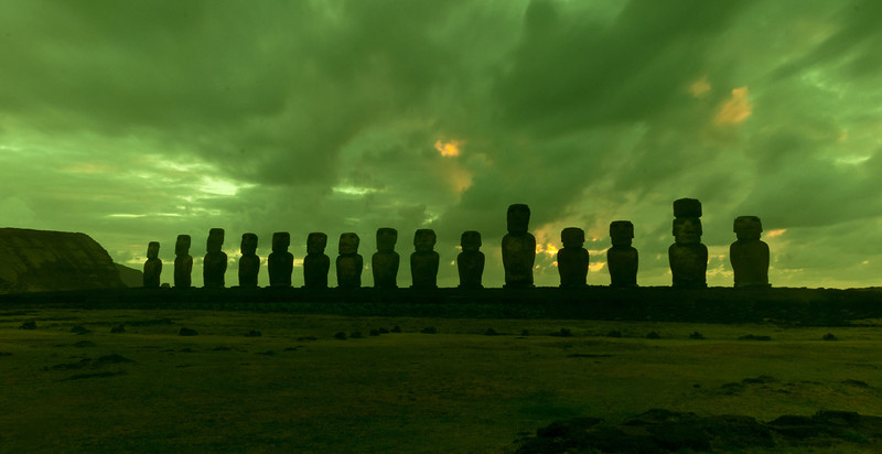 Moai in Green