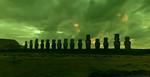 Moai in Green