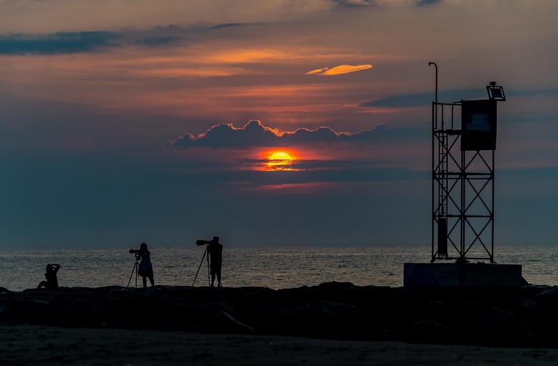 Photographers At Sunrise On Shark River Inlet 7/8/20