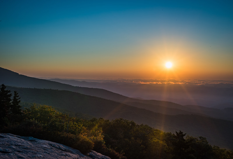 Sunrise over the Blue Ridge Mountains