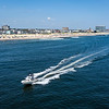 An Aerial View Of A Boat In The Ocean Looking North To Asbury Park 8/25/21