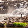 Joshua D Weiss Fine Art Photography of Fly Fishing in Hvita River near Deildartunguhver Iceland