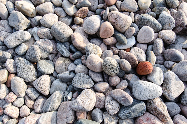 cobble stone on the seaside