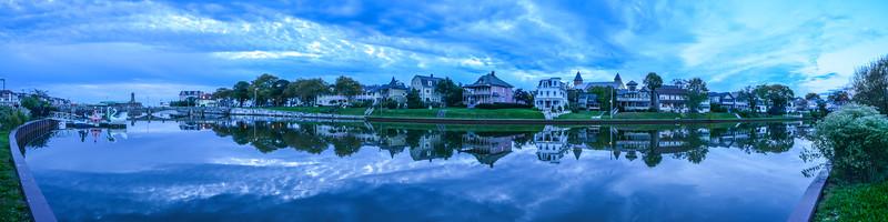 Cloudy Reflection in Wesley Lake, Ocean Grove, NJ