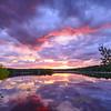 Colorful Sunset Reflection on Manasquan Reservoir, Howell, NJ