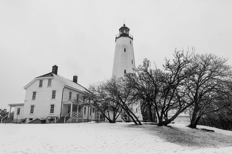 A Snowy Scene At Sandy Hook Lighthouse 2/7/21