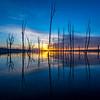 Sunrise Reflection at Manasquan Reservoir 2/21/16