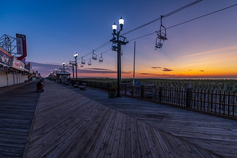 Sunrise Over The Seaside Heights Boardwalk 9/8/19