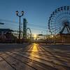 Sunrise Over The Ferris Wheel on Seaside Heights Boardwalk 9/8/19