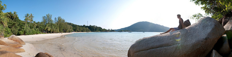 Perhentian Island panorama, 8 images, DSC_0982 - DSC_0989 - 14072x3507