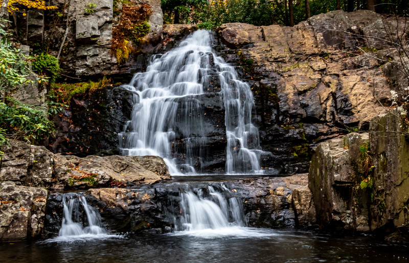 A View Of Hawk Falls in PA 10/18/19