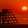 Sunrise Over A Lifeguard Stand On Ocean Grove Beach 6/28/20