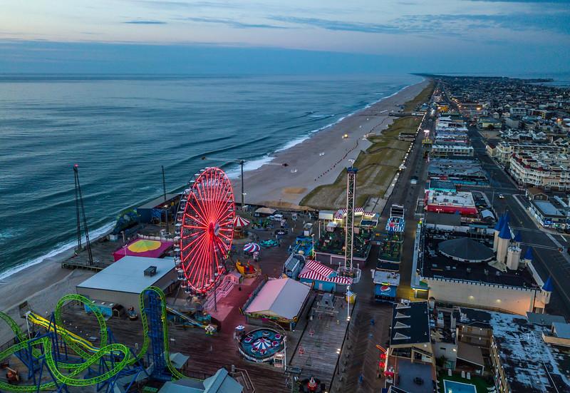 An Aerial View Of Seaside Heights Boardwalk 8/19/20