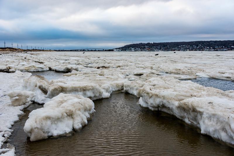 Icebergs in a Frozen Sandy Hook Bay 1/13/18