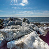 Ice-Covered Rocks at Sandy Hook, NJ
