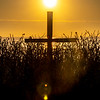 Sunrise Over The Cross On Ocean Grove Beach 4/5/20