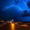 Lightning Over The Ocean Grove Boardwalk Looking North Toward Asbury Park 8/7/18