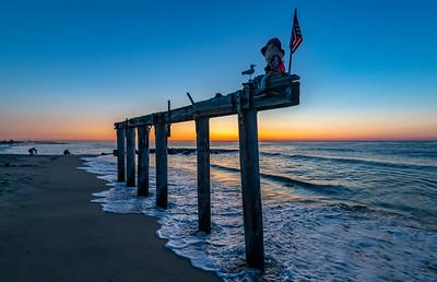 Predawn Colors Over Ocean Grove Pier Remnants 8/11/19