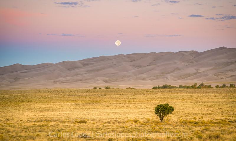 Great Sand Dunes Moon