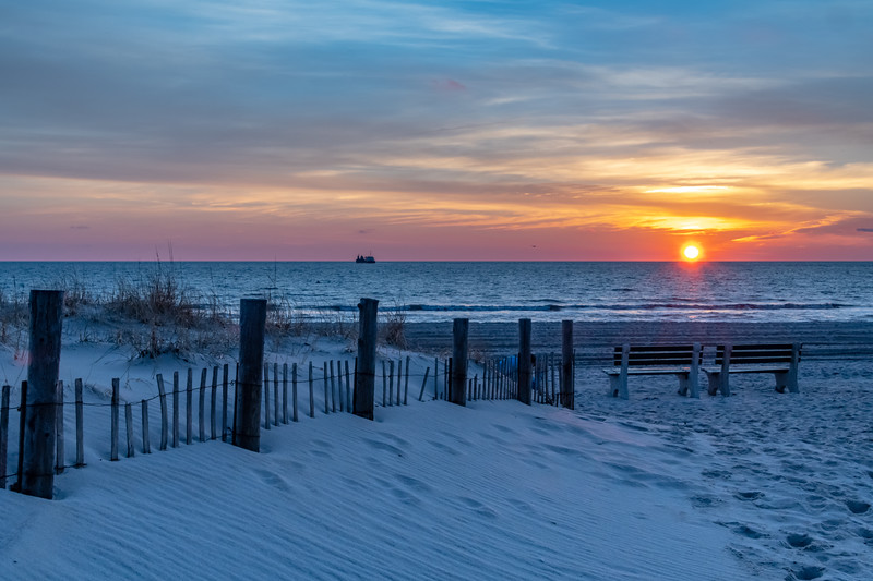 Sunrise Over Seaside Beach 12/31/18