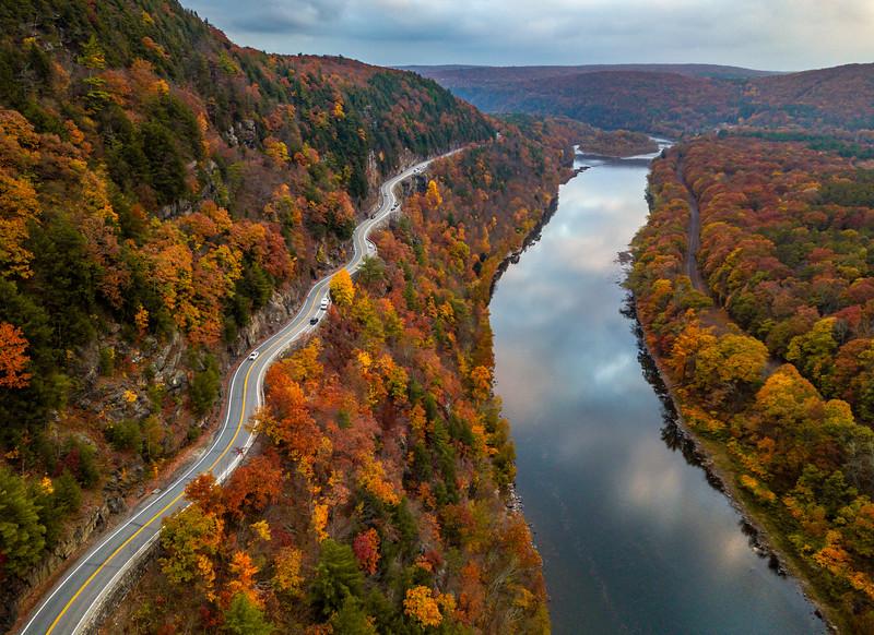 An Autumn Aerial View Of Hawk's Nest 10/22/20