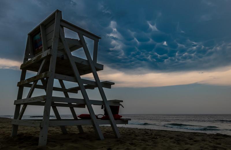 Mammatus Clouds Over A Lifeguard Stand On Belmar Beach 7/6/20