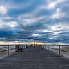Cloudy Sunrise Over Ocean Grove Pier 10/18/18