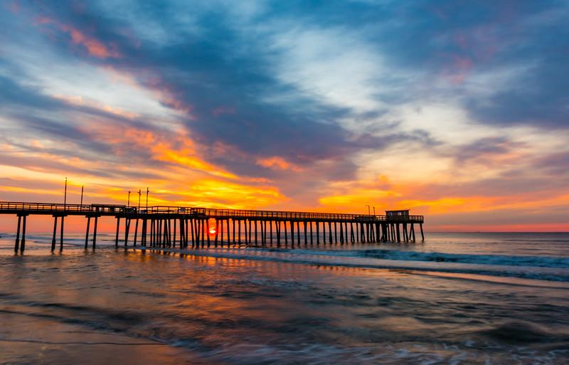 Sunrise Over Avalon Pier 8/6/17