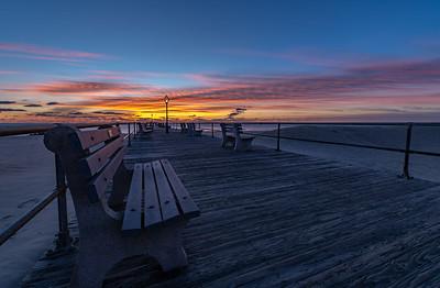 Colorful Sunrise Over Ocean Grove Pier 2/9/19