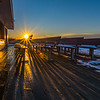 Sunrise over Benches in Ocean Grove, NJ