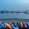 Foggy Morning at Manasquan Reservoir Boat Dock 11/2/17