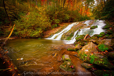 Indian Creek Falls, Foam Swirls