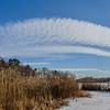 Blue Sky and Clouds Over Shark River, Belmar, NJ
