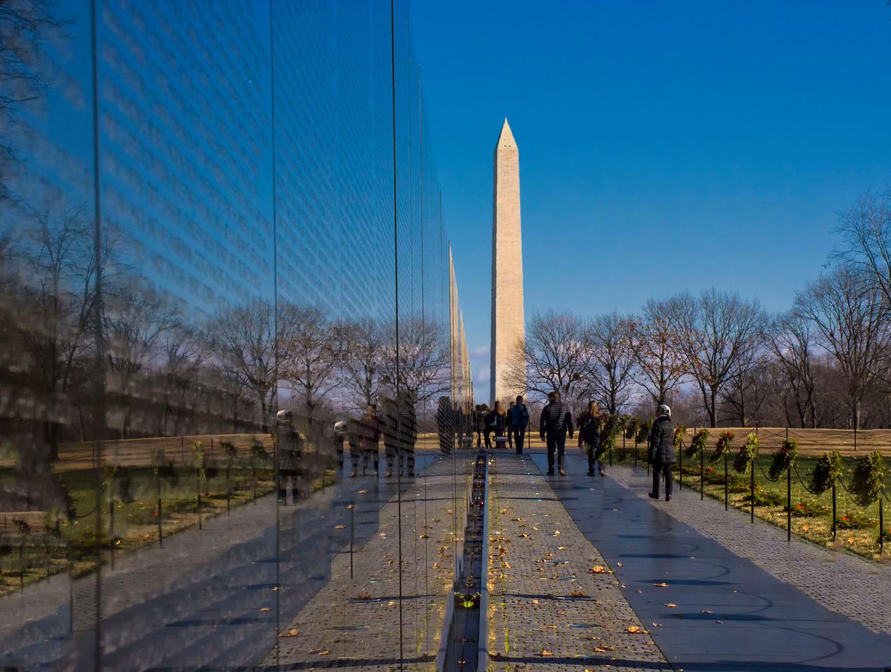 The Vietnam Memorial in Washington D.C.